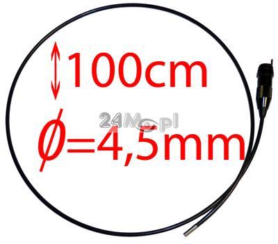 Przewód do kamer inspekcyjnych zakończony minikamerš z obiektywem o œrednicy tylko 4,5mm