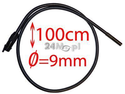 Przewód do kamer inspekcyjnych zakończony obiektywem o œrednicy 9mm