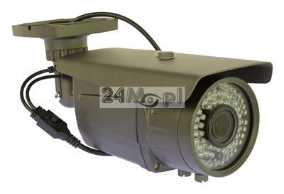 Kamera 4 w 1 do monitoringu cyfrowego - kompatybilnoœć z systemami AHD, CVI, TVI i analogowym, rozdzielczoœć FULL HD, przetwornik SONY EFFIO, regulowany obiektyw 2,8 - 12 mm, 72 diody IR