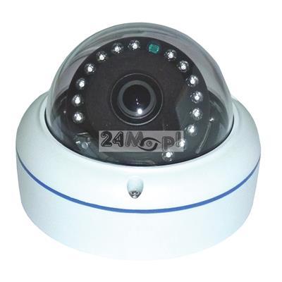 Zewnętrzna kamera 4 w 1 - kompatybilna z systemami AHD, CVI, TVI i CVBS (analogowym), kšt widzenia 360 stopni, 15 diod podczerwieni, IP66
