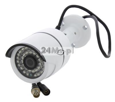 Kamera 4 w 1 - obsługa trybów AHD, CVI, TVI i CVBS, rozdzielczoœć FULL HD, szeroki kšt widzenia, 36 diod podczerwieni, IP66