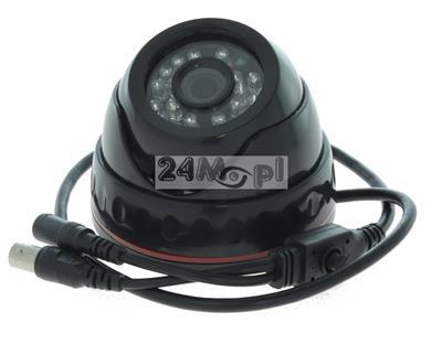 Wewnętrzna kamera kopułkowa ALL in ONE - pełna kompatybilnoœć z systemami AHD, CVI, TVI i CVBS, rozdzielczoœć FULL HD [1080P], szeroki kšt widzenia, 24 diody IR