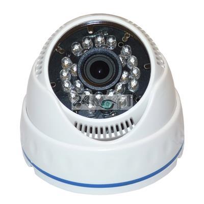 Kamera kopułkowa do monitoringu pomieszczeń - model 4 w 1 (AHD, CVI, TVI i CVBS), FULL HD, SONY EXMOR, szeroki kšt widzenia, 24 diody podczerwieni