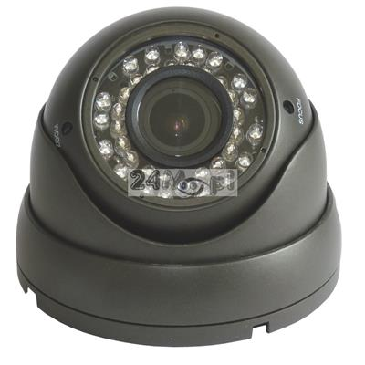 Zewnętrzna kamera kopułkowa 4 w 1 [kompatybilnoœć z systemami AHD, CVI, TVI i CVBS] - rozdzielczoœć FULL HD (1080P), 36 diod podczerwieni, regulowany obiektyw 2,8-12 mm (4x ZOOM optyczny)