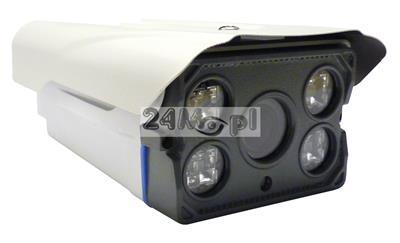 Zewnętrzna kamera 4 w 1 - kompatybilna z systemami AHD, CVI, TVI i CVBS, 4 - krotny MOTOZOOM sterowany z poziomu rejestratora, diody ARRAY LED, IP 66