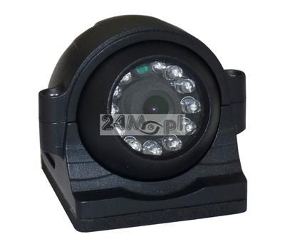 Kamera dedykowana do monitoringu mobilnego pojazdów - markowe podzespoły SONY i NEXTCHIP, szeroki kšt widzenia, 12 diod podczerwieni, wandaloodporna obudowa