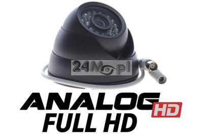 Zewnętrzna kamera AHD FULL HD w solidnej, kopułkowej obudowie - przetwornik SONY EXMOR, KOREAŃSKI procesor Nextchip, szeroki kšt, 24 diody IR