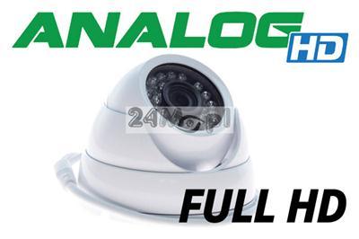 Zewnętrzna, wandaloodporna kamera kopułkowa AHD FULL HD - jakoœć SONY, szeroki kšt widzenia, 24 diody podczerwieni, IP66