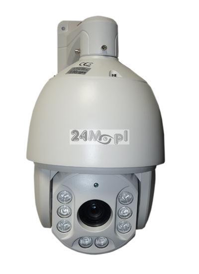 Szybkoobrotowa kamera AHD 2 MPX [1080P] - krystalicznie czysty materiał video w rozdzielczoœci FULL HD, 8 diod ARRAY LED o zasięgu do 200 metrów, 36x ZOOM optyczny, 4 œcieżki patrolowe i 256 presetów