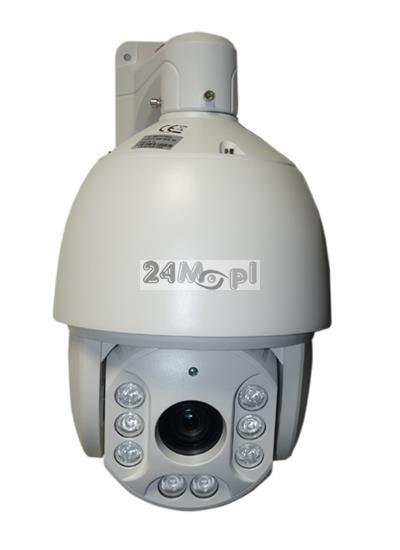 Szybkoobrotowa kamera FULL HD [1080P] - kompatybilna z systemami AHD, CVI, TVI i CVBS, 36x ZOOM optyczny, 8 diod ARRAY LED o zasięgu 200 metrów, szczelna obudowa (IP66)