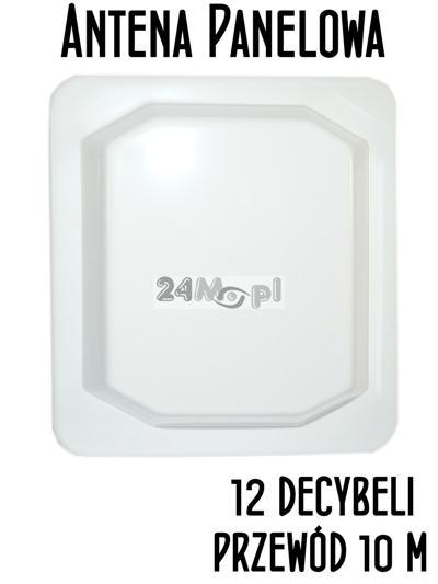 Antena panelowa 12 dB 2.4 GHz z kablem 10m