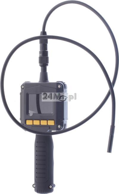 Kamera inspekcyjna [endoskopowa] z wyœwietlaczem LCD i opcjš zapisu na karcie microSD - w zestawie metrowy przewód z końcówkš 8 mm i zestaw akcesoriów