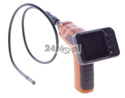 Bezprzewodowa kamera inspekcyjna z wyœwietlaczem LCD - diody LED, ZOOM, obiektyw 9 mm, ZESTAW Z WALIZKĽ