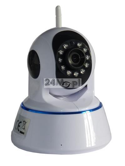 Obrotowa, wewnętrzna kamera IP 1,3 MPX - praca w chmurzez [P2P], dwukierunkowa komunikacja głosowa [funkcja rozmowy], 10 diod IR