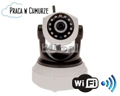 Obrotowa, bezprzewodowa kamera IP WIFI - rozdzielczoœć HD (1280x720), dwukierunkowa komunikacja głosowa, H.264, płynny ruch, 12 diod IR