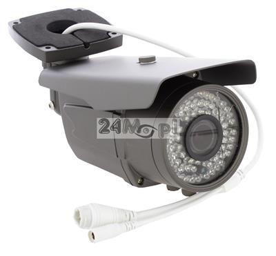 Zewnętrzna kamera IP 4 MPX - przetwornik SONY EXMOR, obiektyw 2,8 - 12 mm, 72 diody podczerwieni, wandaloodporna, hermetyczna obudowa [IP66], zasilanie PoE