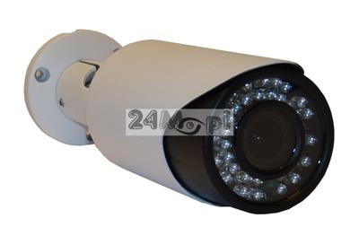 Kamera IP FULL HD w zewnętrznej, hermetycznej obudowie - jakoœć 1080P, przetwornik SONY, 42 diody podczerwieni, regulowany obiektyw 2,8 - 12 mm, zasilanie PoE