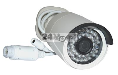 Zewnętrzna kamera IP FULL HD - niepodważalny materiał dowodowy w rozdzielczoœci 1080P (2 MPX), szeroki kšt widzenia, praca w chmurze (P2P), standard ONVIF, 36 diod podzerwieni
