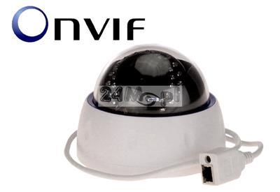 Wewnętrzna kamera kopułkowa 4 MPX - krystalicznie czysty obraz dzięki przetwornikowi SONY EXMOR, regulowany obiektyw 2,8 - 12 mm, 30 diod IR, wbudowany mikrofon (audio)