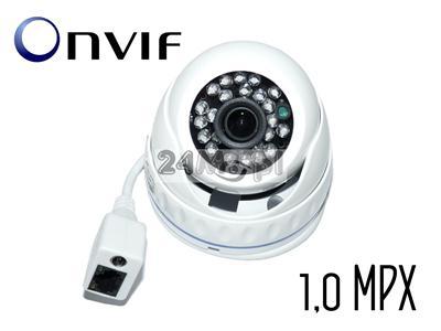 Profesjonalna kamera megapikselowa w kopułkowej, wandaloodpornej obudowie - 1/4 Multi Megapiksel CMOS, standard ONVIF, 24 diody IR, szeroki kšt
