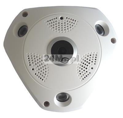 Kamera sieciowa IP FULL HD z kštem widzenia 360 stopni, diody SMART IR LED, ONVIF, praca w chmurze (P2P)