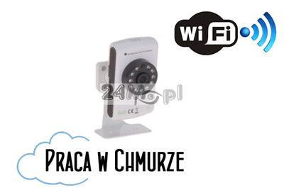 Cyfrowa kamera IP WiFi - HD (1280 x 720), standard ONVIF, szeroki kšt widzenia, dwustronna komunikacja głosowa, praca w chmurze
