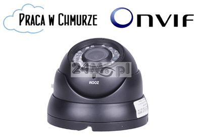 Zewnętrzna kamera kopułkowa IP FULL HD - przetwornik SONY, regulowany obiektyw 2,8-12 mm, solidna, hermetyczna obudowa