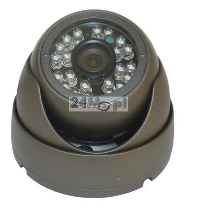 Zewnętrzna kamera FULL HD - model dedykowany do rejestratorów monitoringu mobilnego, szeroki kšt widzenia, 24 diody IR o zasięgu 20 metrów
