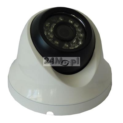 Zewnętrzna kamera IP 1080P [FULL HD] w obudowie kopułkowej - przetwornik SONY, szeroki kšt widzenia [ok. 70 stopni], 24 zintegrowane diody podczerwieni