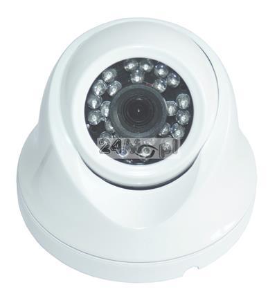 Zewnętrzna kamera kopułkowa IP FULL HD - przetwornik SONY, standard ONVIF, szeroki kšt widzenia, 24 diody podczerwieni o zasięgu 20 metrów, IP66