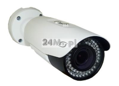 Kamera IP w hermetycznej obudowie - rozdzielczoœc 4MPX i niższe [w tym FULL HD], 54 diody IR, obiektyw 2,8 - 12 mm, zapis na kartach microSD, pendrive i dyskach, zasilanie PoE