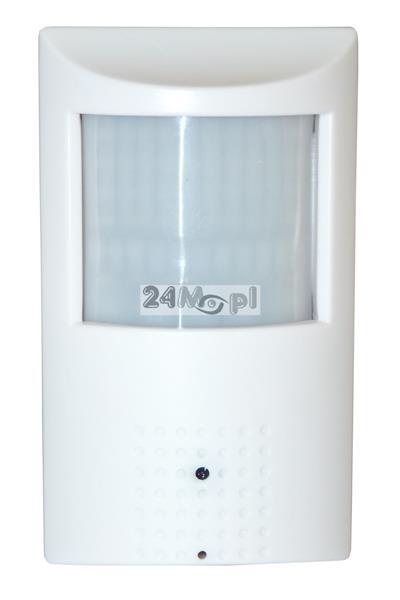 Kamera IP FULL HD ukryta w czujce ruchu - przetwornik SONY EXMOR, płynny ruch (25 klatek / sekundę), wbudowany mikrofon, 48 diod 940 nm - doskonałe narzędzie monitoringu ukrytego