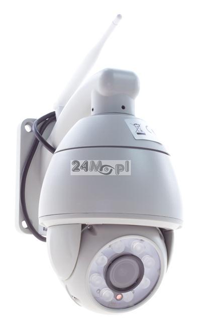 Zewnętrzna, MEGA - pikselowa, OBROTOWA kamera IP z WiFi - jakoœć HD, 4 x ZOOM optyczny, diody GIANT LED, praca w chmurze, funkcja powiadomień na FTP i E-MAIL