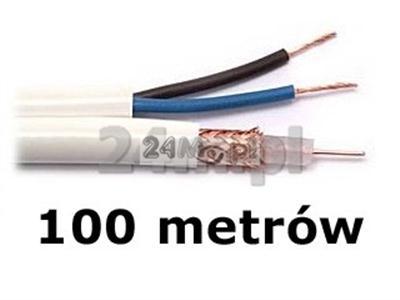 Kabel do tv przemysłowej - rolka 100m