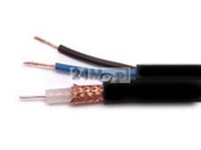 Kabel koncentryczny z żyłami zasilajšcymi do instalacji w ziemi