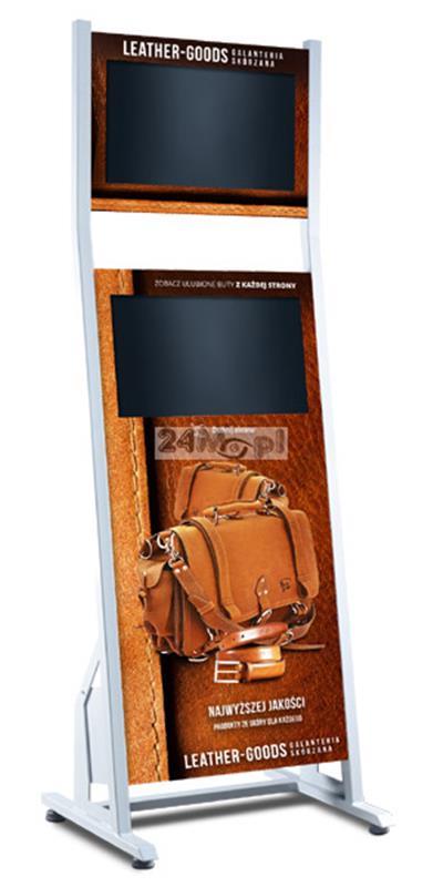 Totem multimedialny z dwoma monitorami LCD, w tym jednym dotykowym - wyróżnij się na tle konkurencji!