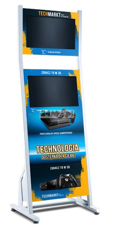 Infokiosk multimedialny z dwoma monitorami - dotykowy ekran, FULL HD, personalizacja funkcjonalnoœci i wyglšdu