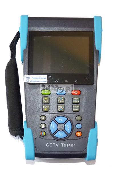 Monitor serwisowy 3,5 do kamer analogowych i AHD (stacjonarnych i obrotowych), funkcja testera przewodów sieciowych i zasilania PoE, PING-owania urzšdzeń w sieci, skanowania adresów IP, wbudowana lat