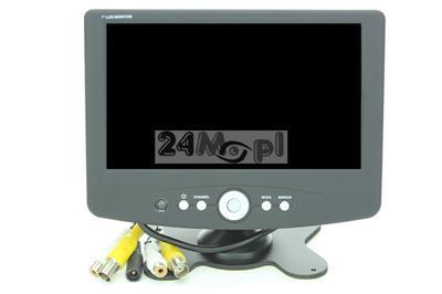 Kompaktowy, przenoœny monitor 7 cali do TV przemysłowej/kamer cofania