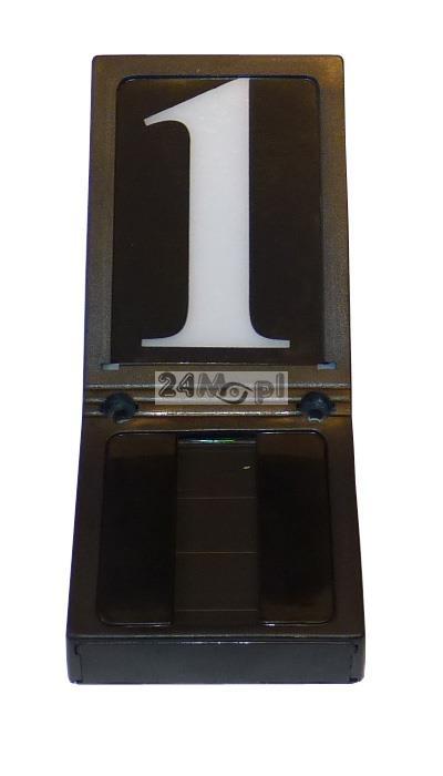 Podœwietlany panel LED z numerem domu (budynku) - zasilanie bateryjne, wbudowany panel solarny i czujnik zmierzchowy