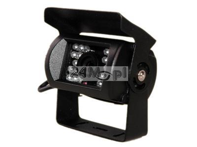 Zewnętrzna, niewielkich rozmiarów kamera do monitoringu CCTV - dzień/noc (18 diod IR), 1/3 CCD SONY, 600 linii, idealna do zastosowań w pojazdach
