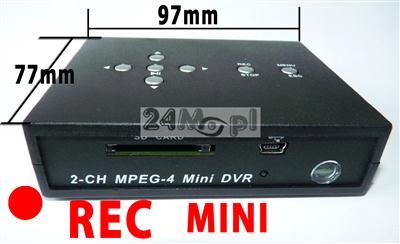Rejestrator miniaturowy na karty SD, detekcja, nadpisywanie