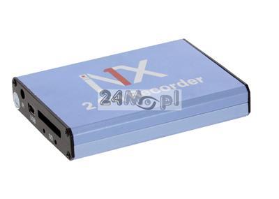 MIKRO rejestrator na karty SD [do 128 GB] - obsługa dwóch kamer, zapis cišgły lub w detekcji ruchu, 30 klatek/sekundę