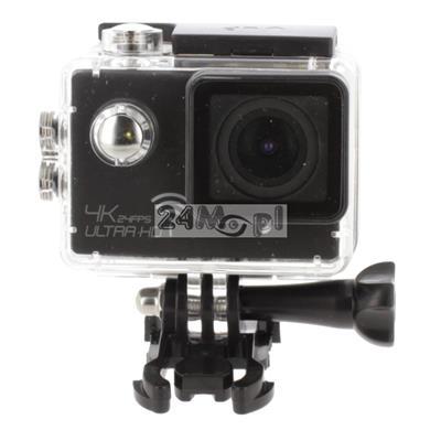 Kamera sportowa 4K [Ultra HD] - zapis z prędkoœciš do 120 klatek / sekundę, kšt widzenia 170 stopni, wbudowany mikrofon, wodoszczelna obudowa, zestaw akcesoriów