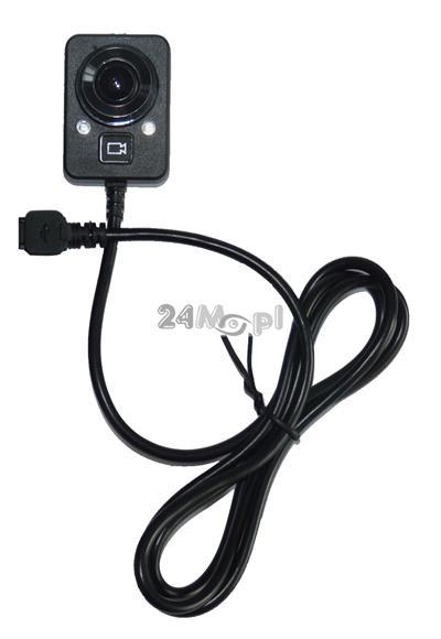 Dodatkowa kamera do rejestratora nasobnego - jakoœć HD (720P), szeroki kšt widzenia (140 stopni), tryb VIDEO i FOTO
