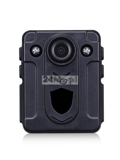 Nasobna kamera dla komorników i służ mundurowych - FULL HD, szeroki kšt widzenia, wbudowany akumulator, prosta obsługa i wygodne mocowanie