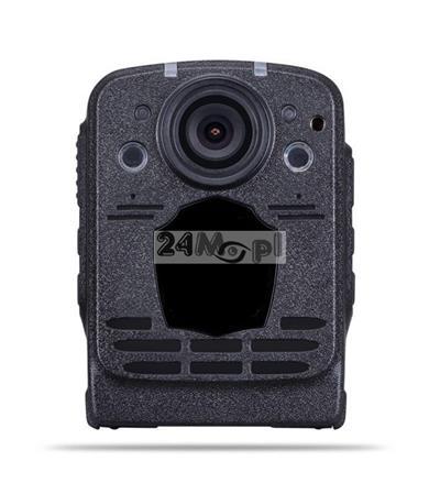 Kamera nasobna dla komorników i służb mundurowych - rozdzielczoœć FULL HD, szeroki kšt widzenia, podczerwień, wyœwietlacz LCD, pamięć 16 GB