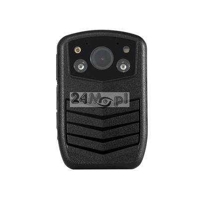 Kamera nasobna z wbudowanym rejestratorem (16 GB)  dla komorników i służb mundurowych - rozdzielczoœć FULL HD, praca dzień / noc (diody IR), szeroki kšt widzenia (140 stopni), mikrofon
