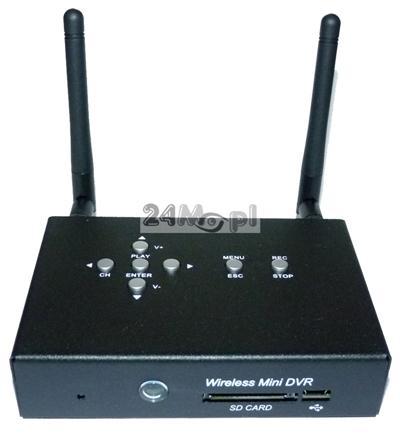 Odbiornik - rejestrator do kamer bezprzewodowych, zapis w rozdzielczoœci HD, płynny ruch, pełny dostęp zdalny za pomocš telefonów komórkowych (Android, iPhone)