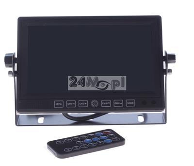 4 - kanałowy rejestrator cyfrowy z wbudowanym wyœwietlaczem LCD 7 cali, zasilanie 12 - 24 V, możliwoœć zapisu dŸwięku